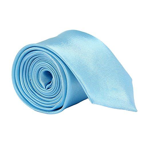 Allright Rose Clair Mince Hommes Satin Bleu Cravates Ciel rxXqrwZ