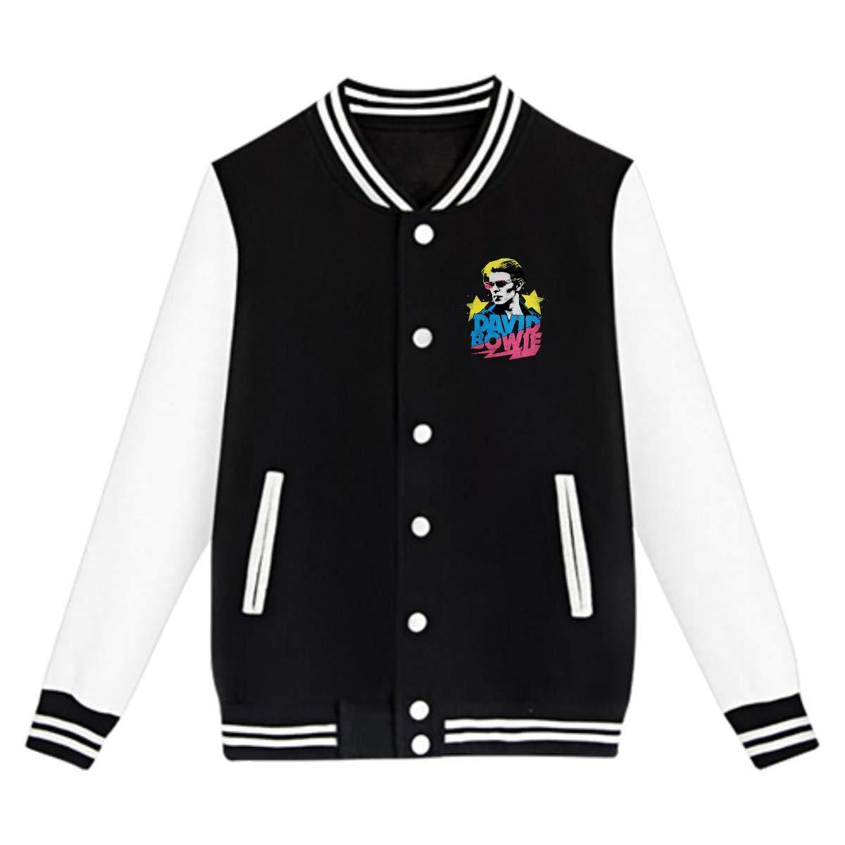 LIALUER David Bowie Kids Baseball Jacket Uniform V Sweater Coat