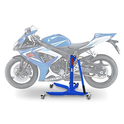 Motorbike Central Stand Paddock Lift ConStands Power Suzuki GSX-R 750 06-07, Adaptor+Casters incl. blue - Central Stand