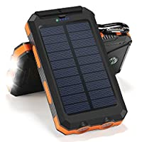 Solar Charger, 10000mAh Solar Power Bank...
