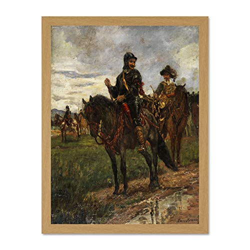 Doppelganger33 LTD Painting Military Study Braun 17th Century Heavy Cavalry Art Large Framed Art Print Poster Wall Decor 18x24 inch Supplied Ready to Hang