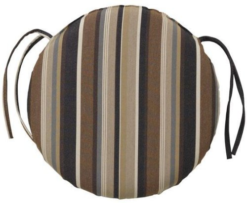 Bullnose Round Outdoor Chair Cushion, 1.5