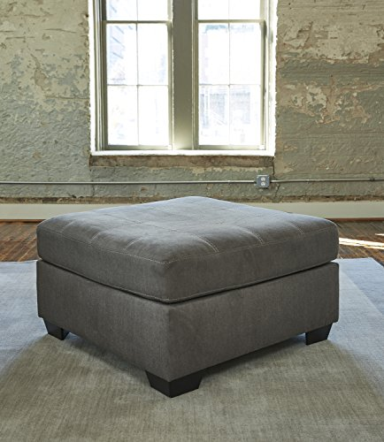 Pitkin Contemporary Slate Grey Color Fabric Oversized Accent Ottoman by FurnitureMaxx