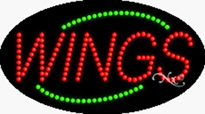 Open Flashing LED Flex Window Sign Includes Inline Remote Control 32x13x1 in