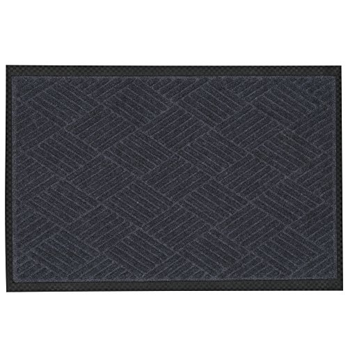 Ottomanson Ribbed Carpet Rubber Backed Door Entrance Rug