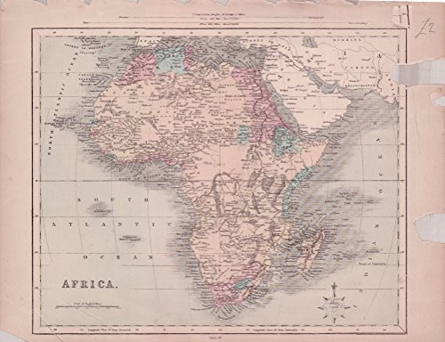 (AFRICA 1860 MAPS: Africa as it was known by Europeans up to middle of nineteenth century )