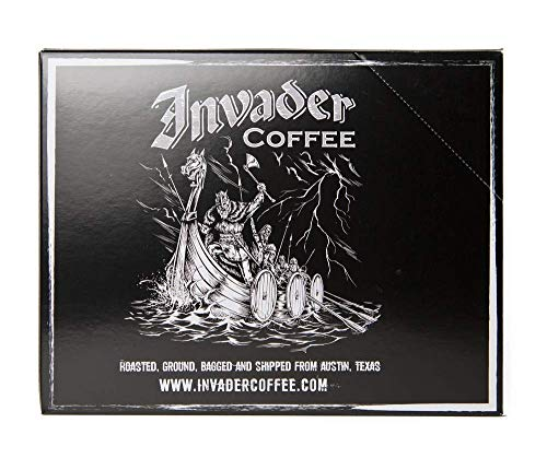 Invader Coffee Classic Blend Single Serve Cups - Air Roasted Low Acidity Ground Coffee - 12 Count
