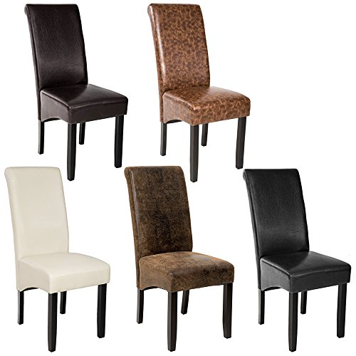 Tectake design sedia per sala cucina da pranzo nero sedie for Colori per sala da pranzo