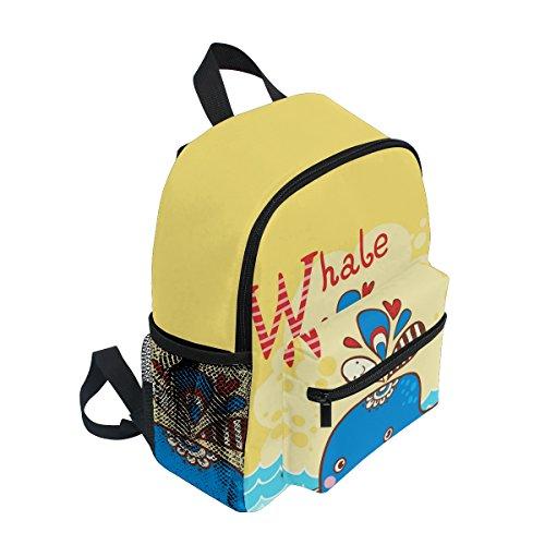 Boy Girls for Cute Kids Pre Sea Toddler Backpack Whale ZZKKO Kindergarten Cartoon School Bag Z76wqq1