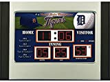 Detroit Tigers Scoreboard Desk & Alarm Clock - Licensed MLB Baseball Merchandise