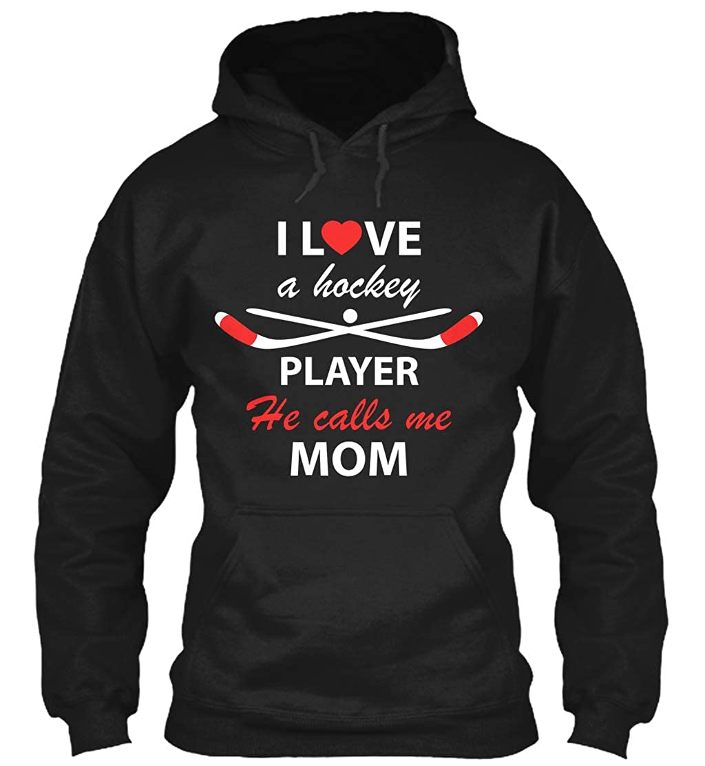 I Love a Hockey Player he Calls. Sweatshirt - Gildan...
