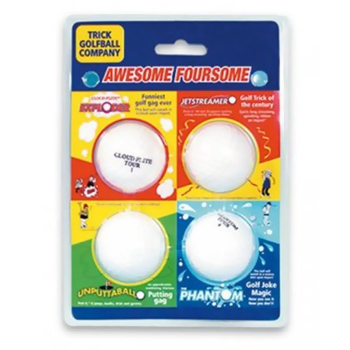 Trick Golf Balls Awesome Foursome Set of 4