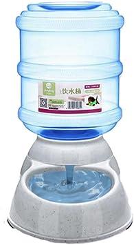 ED-Lumos Alimentatore Automatico per Animali Domestici Dispenser per Alimenti Acqua per Cani Bevitore e Alimentatore per Gatti Alimentare in plastica da 3.5 L