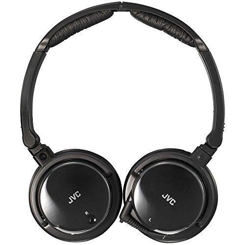 JVC Noise Canceling Headphones with Retractable Cord (Black)