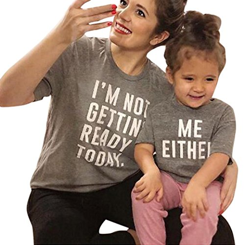 (Matching Tshirt for Mom Me,Kintaz Mom and Daughter Son Letter Print Short Sleeve T-Shirt Top Family Clothes (Mother, Size: M))