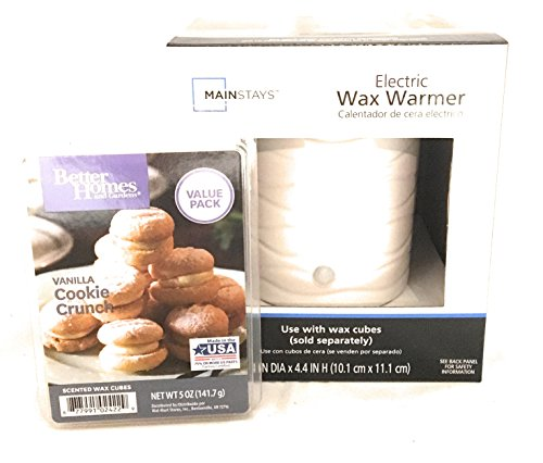 Mainstays wax warmer and Vanilla Cookie Crunch wax cubes