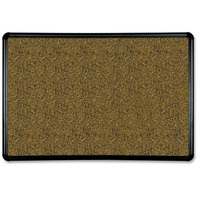 Best-Ritereg; Black Splash-Cork Board, 36 x 24, Natural Cork, Black (Splash Cork Board)
