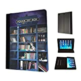 454 - Doctor Who Tardis Call Box Book Shelves Library Design Fashion Trend TPU Leather Flip Case For Apple iPad 2 ipad 3 ipad 4 Full Case Flip TPU Leather Purse Pouch Defender Stand Cover