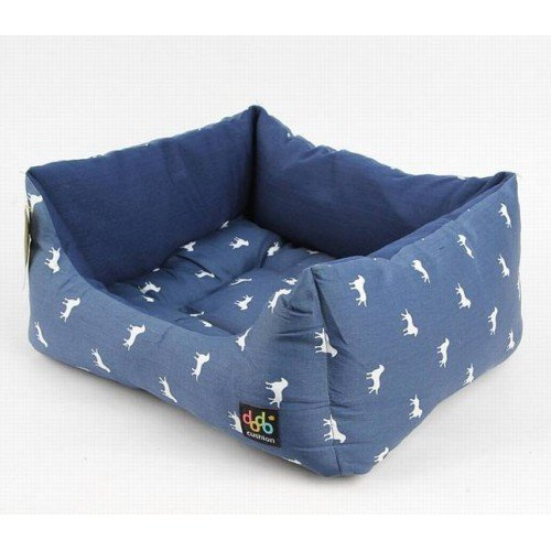 Cheap Alphadog Series Dog&cat Square Canvas Cushion Bed(medium, Blue)