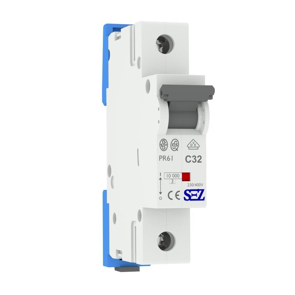 LS-Schalter SEZ C 32A 1-p 10kA VDE Leitungsschutzschalter Sicherungsautomat