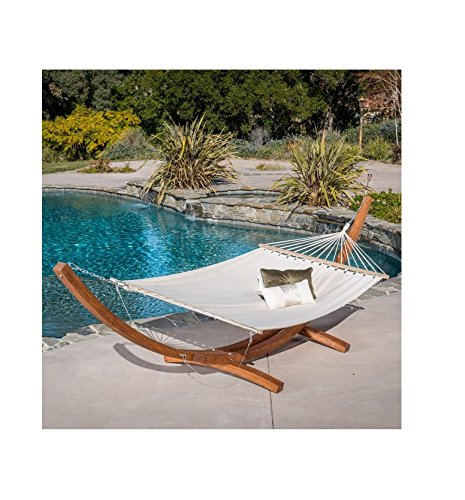 Christopher Knight Home Grand Cayman Hammock With a Larch Wood Frame