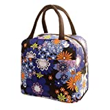 Lunch Handbag Among Thermal Insulated Tote Picnic Cool Canvas Bag Cooler Pouch Waterproof Zipper Boxes (Purple)