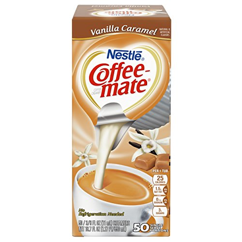 NESTLE COFFEE-MATE Coffee Creamer, Vanilla Caramel, liquid creamer singles, Pack of 50 by Nestle Coffee Mate (Image #3)