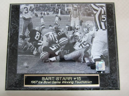 Bart Starr Green Bay Packers ICE BOWL Engraved Collector Plaque #2 w/8x10 BW Photo Bart Starr Ice Bowl