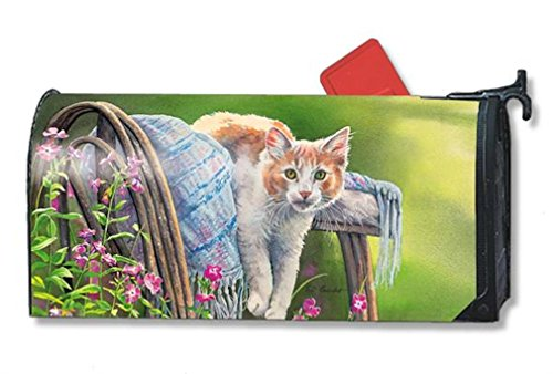 MailWraps Kitty Cool Down Mailbox Cover #01124 Cat Mailbox Covers