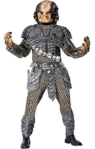 [UHC Men's Deluxe Scary Alien Vs Predator With Mask Fancy Costume, One Size] (Predator Deluxe Mask)