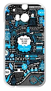 777life Funny The Fault In Our Stars Case Cover for HTC One M8, Laser Technology Cases