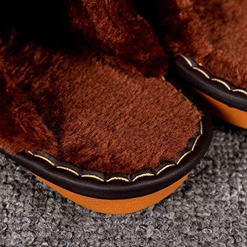 Pelle In E Con Vera Calde 41 Coperta 40 Pantofole 43 Per Lianaio Uomini Donne Caldo Scarpe Adatto Pavimento 42 Cotone Antiscivolo Di Casa Inverno vPnqwYzp