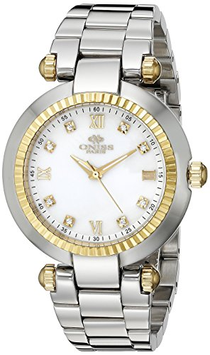 Oniss Paris Women's ON615N-L2T MADISON COLLECTION Analog Display Swiss Quartz Silver Watch