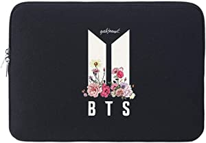 "KPOP BTS Merch, BTS Map of The Soul 7 Merchandise Jungkook Jimin Laptop Sleeve Case Compatible with 14"" 15"" 15.6"" Notebooks"