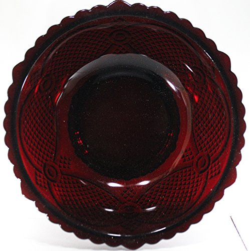 Avon 1876 Ruby Red Cape Cod Serving Bowl
