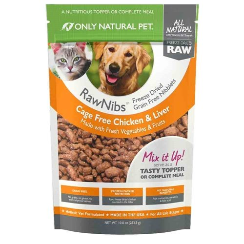 Only Natural Pet RawNibs Freeze Dried Chicken 10 oz by Only Natural Pet