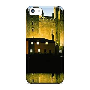 New Style Tpu 5c Protective Case Cover/ Iphone Case - Inn At A Castle At Night