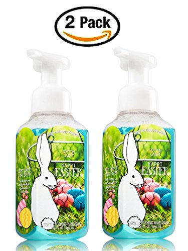 Bath & Body Works Cotton Candy Hand Soap - Pair of 2 Gentle Foaming Easter Hand Soaps (Bath And Body Cotton Candy)