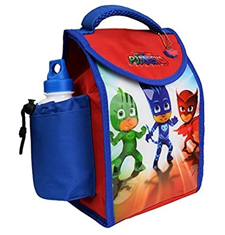 Pj Mask Kids Children Lunch Box Bag With Sport Water Bottle