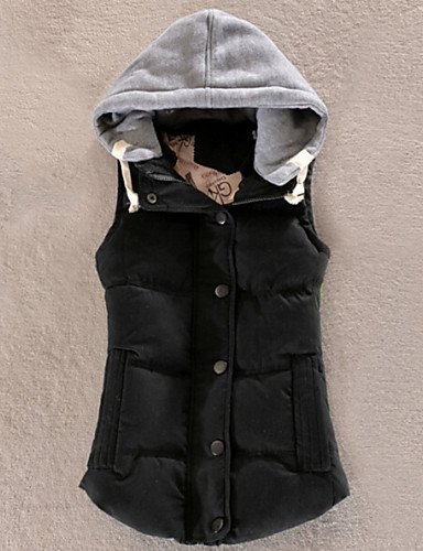 More Colors Black ZHUDJ Women'S Fashion Vest Hooded Down 6XL Match All 8HnTBqw0