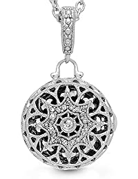 Fine Sterling Silver-Custom Photo Locket Necklace-That Holds Pictures for Women-The Bea
