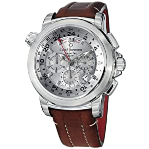 Carl F. Bucherer Patravi TravelTech Men's Silver Face Automatic Chronograph Watch 00.10620.08.63.01