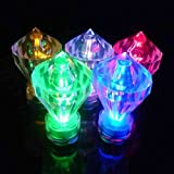 JYtrend SUPER Bright Diamond LED Floral Tea Light Submersible Lights For Party Wedding (RGB -Changing Colors, 6 Pack)