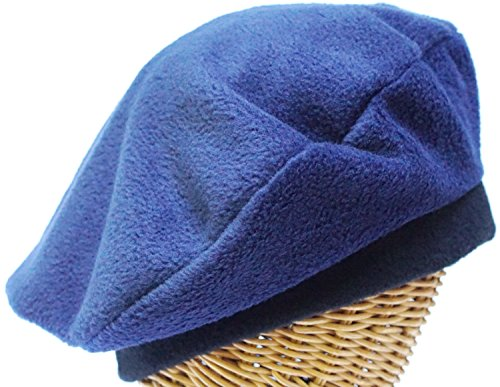 Fleece Beret in Navy
