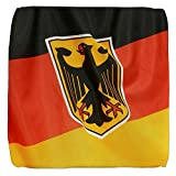 13 Inch 6-Sided Cube Ottoman German Flag Waving