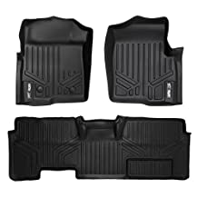 MAXLINER A0094/B0026 Floor Mats for Ford F-150 Super Cab Non Flow Center Console, 2011-2014 Complete Set, Black