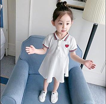 Koedu Falda corta de verano para niña vestido de manga corta ...