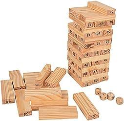 Holzkarre Karre mit Bausteinen Spielzeug aus Holz Kinder Kleinkind HM012787 Baby Spielzeug