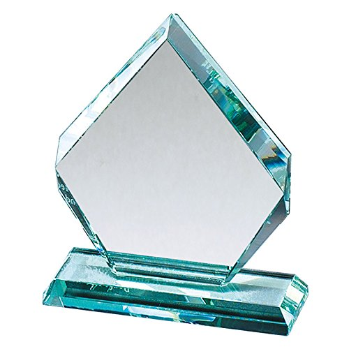 Customizable 5-1/2 Inch Arrowhead Jade Glass Award, Includes Personalization Jade Award