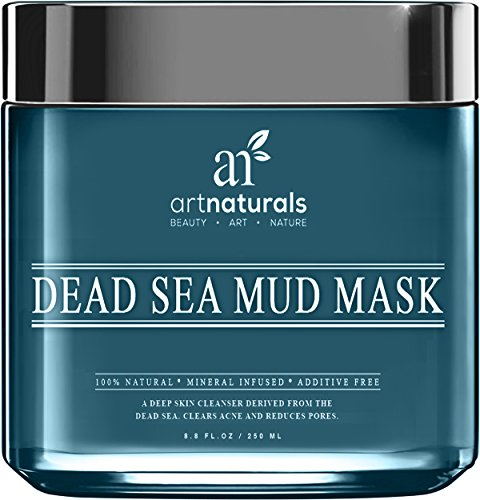 Art Naturals® masque de boue de mer morte pour visage, corps & cheveux 8,8 oz, 100 % naturels et biologiques profonds Skin Cleanser - efface l'acné, réduit les Pores & rides - Spa ultime qualité - minéral infusé, additif gratuit